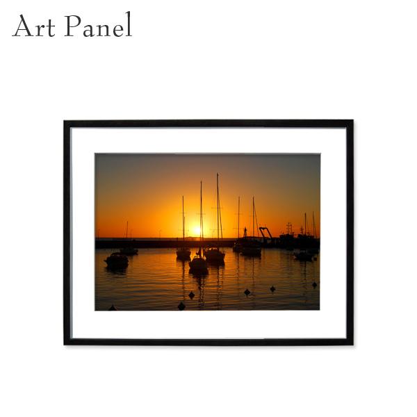 アートパネル 壁掛け インテリア 夕日 海 アルミフレーム アクリル 額縁 パネル 街並み 写真 付属品