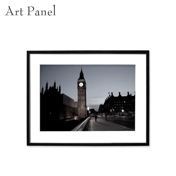 アートパネル モノクロ インテリア 壁掛け ロンドン おしゃれ ウォールアート 海外 風景 白黒 額付き 写真入り