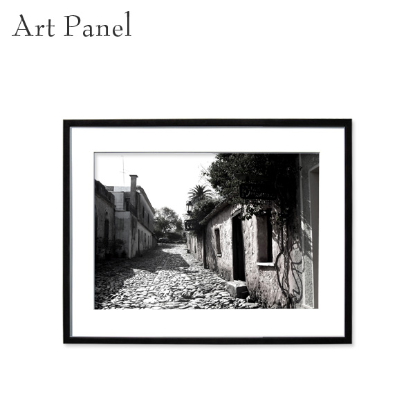 アートパネル モノクロ 壁掛け インテリア 海外風景 デザイン 白黒 写真 壁飾り アルミ 額縁 額付き