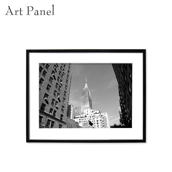 アートパネル ニューヨーク モノクロ 壁掛け インテリア 海外風景 白黒 写真 壁飾り アルミ 額縁 額付き