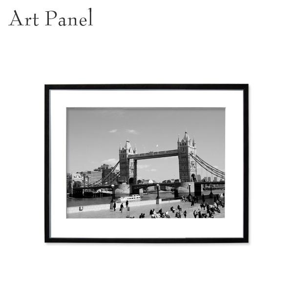 壁掛け インテリア アートパネル ロンドン モノクロ 海外風景 白黒 写真 壁飾り アルミ 額縁 額付き