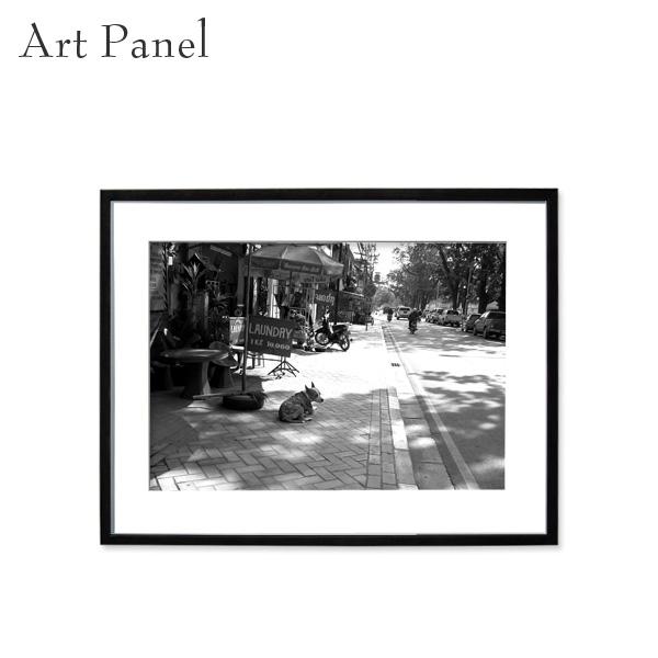 壁掛け インテリア モノクロ アートパネル アート写真 白黒 アクリル おしゃれ 写真付き パネル 街並み