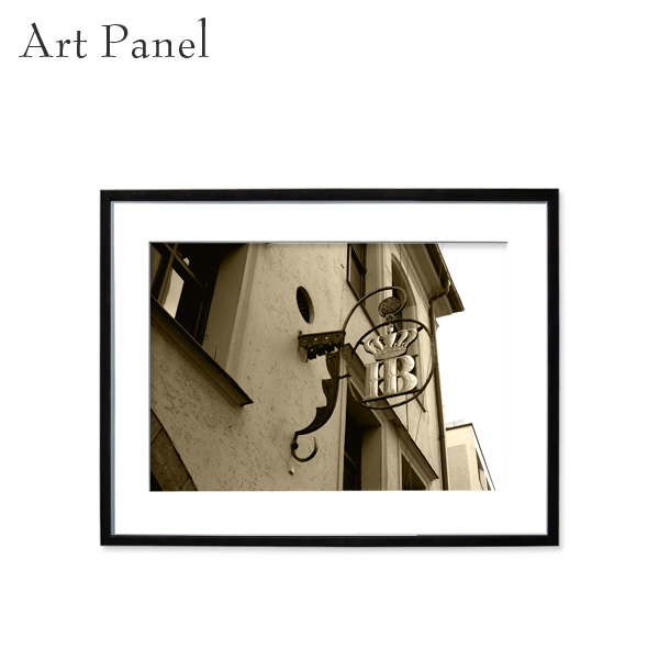 インテリアアートパネル 壁掛け レトロ アート写真 セピア おしゃれ 飾り物 壁面 額縁 海外風景