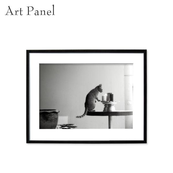 アートパネル モノクロ ねこ 風景 壁掛け アート インテリア 写真 おしゃれ 白黒 ディスプレイ 装飾 飾り