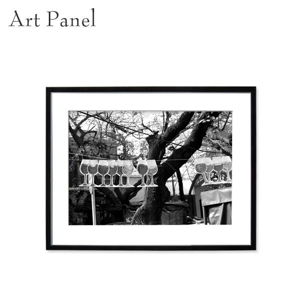 アートパネル モノクロ 壁掛け フレーム付き アート インテリア 白黒 写真 おしゃれ 街並み 風景 装飾 飾り