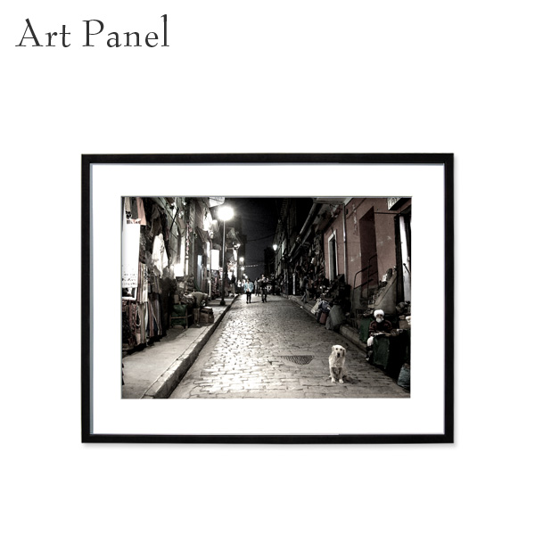 アートパネル 街並み モノクロ 壁掛け アート フレーム付き 風景 インテリア 白黒 写真 おしゃれ 壁飾り