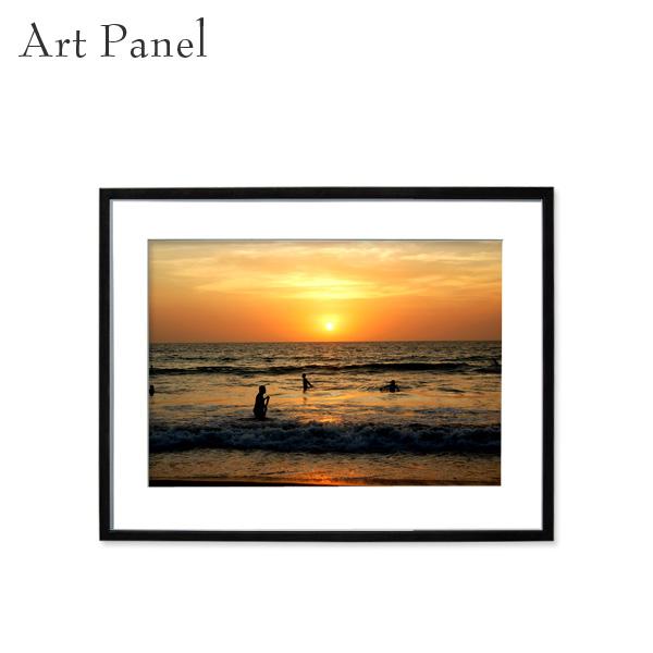 アートパネル 海 バリ島 夕日 壁掛け アート フレーム付き インテリア 写真 おしゃれ 壁飾り