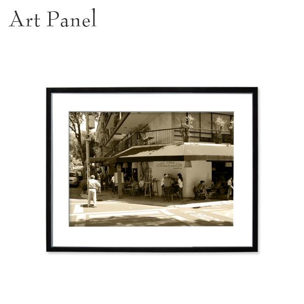 アートパネル 街並み レトロ セピア メキシコ 壁掛け アート フレーム付き インテリア 写真 おしゃれ 壁飾り