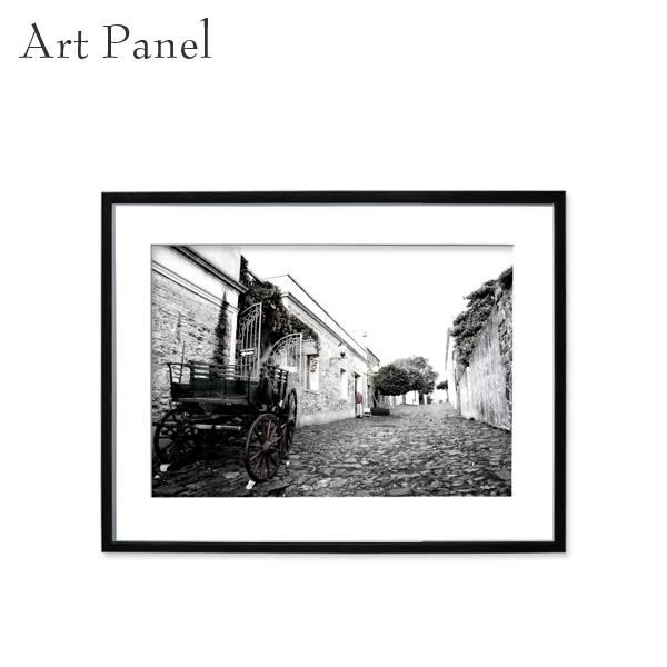 アートパネル 街並み 風景 モノクロ 壁掛け アート フレーム付き インテリア 白黒 写真 おしゃれ 壁飾り