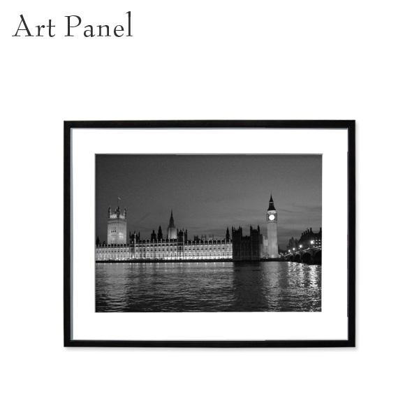 アートパネル モノクロ ロンドン 壁掛け 街並み 風景 フレーム付き インテリア 白黒 写真 おしゃれ 壁飾り