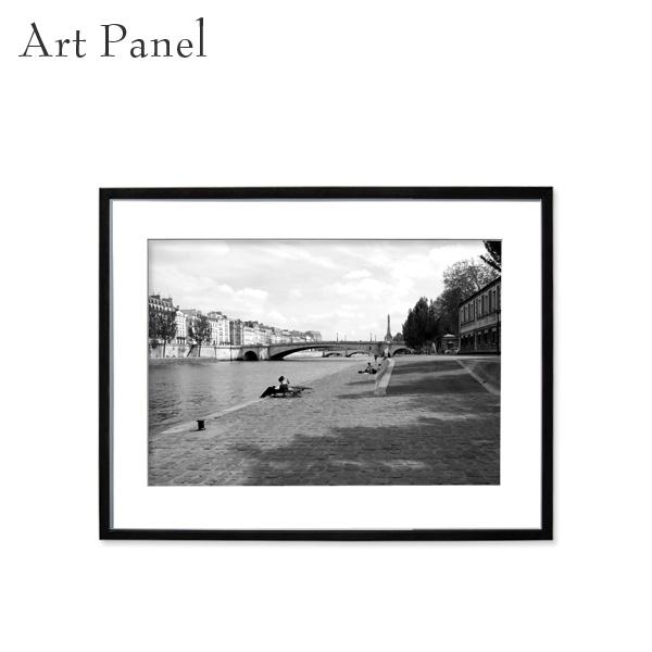 アートパネル モノクロ パリ 壁掛け 街並み 風景 フレーム付き インテリア 白黒 写真 おしゃれ 壁飾り