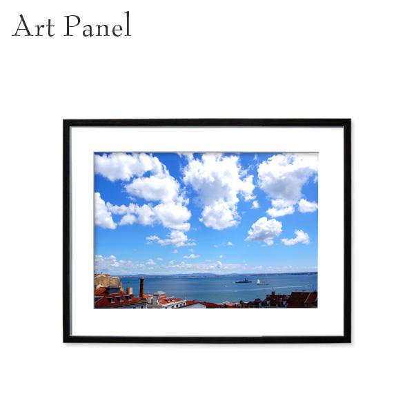 アートパネル 壁掛け アート リスボン 街並み フレーム付き インテリア 写真 おしゃれ 壁飾り