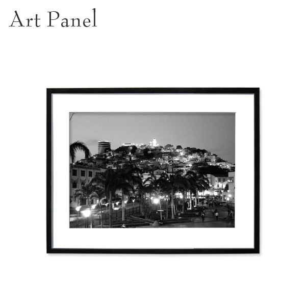 アートパネル モノクロ 街並み モダン インテリア 壁掛け アート 海外 風景 フレーム付き 写真 おしゃれ 壁飾り