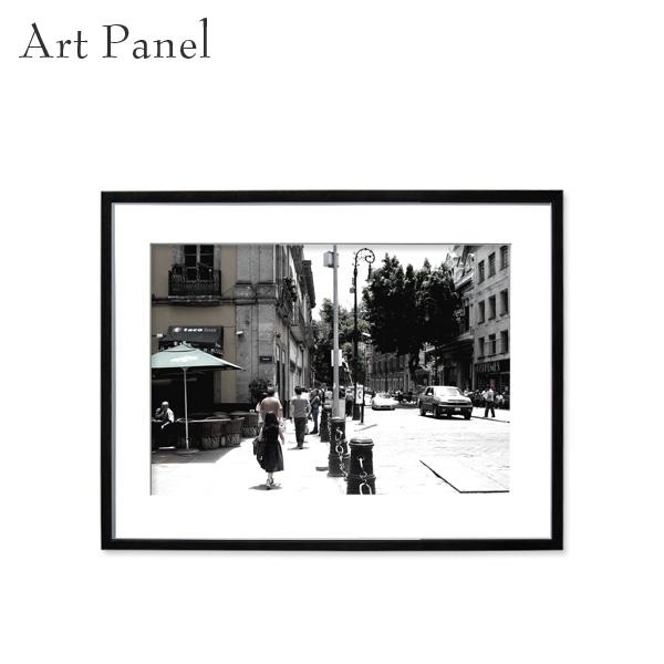 アートパネル 街並み 海外 モノクロ モダン インテリア 壁掛け アート 風景 フレーム付き 写真 おしゃれ 壁飾り