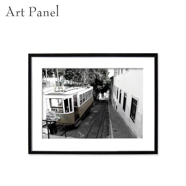 壁掛け アート 街並み モノクロ 白黒 海外風景 アートパネル モダン インテリア 額付き 写真 壁飾り