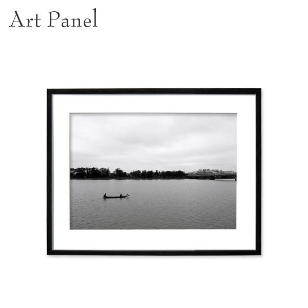壁掛け アート アジア モノトーン 白黒 風景 アートパネル モダン インテリア 額付き モノクロ写真 壁飾り