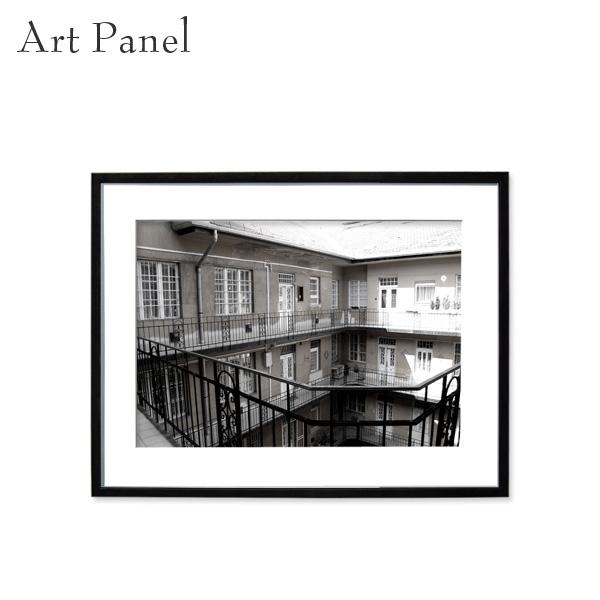 壁掛け アート モノトーン 白黒 海外風景 アートパネル モダン インテリア 額付き モノクロ写真 壁飾り