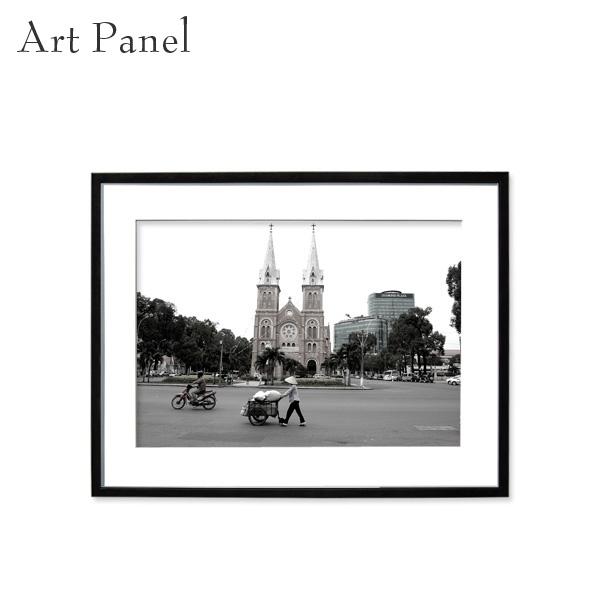 アートパネル 街並み アジア 壁掛け モノトーン 海外 モダン インテリア ウォールアート 額付き モノクロ写真