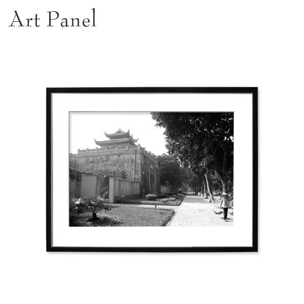 壁掛け アート モノトーン パネル アジア 壁掛け 海外 街並み モダン インテリア ウォールアート 額付き モノクロ写真
