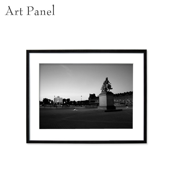 アートパネル モノトーン パリ 壁掛け 白黒 インテリア モダン アートボード 額付き アート写真