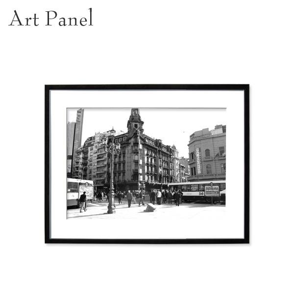 アートパネル モノトーン ブエノスアイレス 壁掛け 白黒 インテリア モダン アートボード 額付き モノクロ アート写真