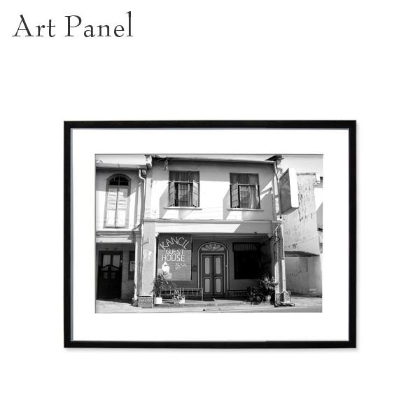 アートパネル モノトーン マラッカ 壁掛け 白黒 インテリア モダン アートボード 額付き モノクロ アート写真