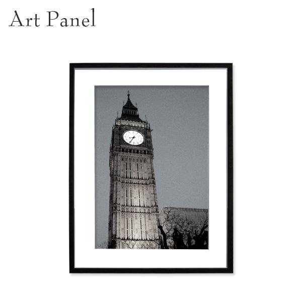 アートパネル モノトーン ロンドン 壁掛け 白黒 壁面 インテリア モダン アートボード 額付き モノクロ アート写真
