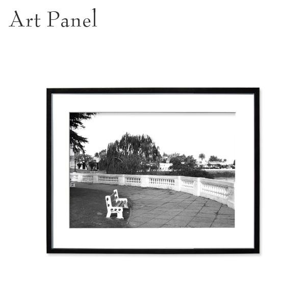 アートパネル モノトーン コロニア 旧市街 壁掛け 白黒 壁面 インテリア モダン アートボード 額付き モノクロ アート写真