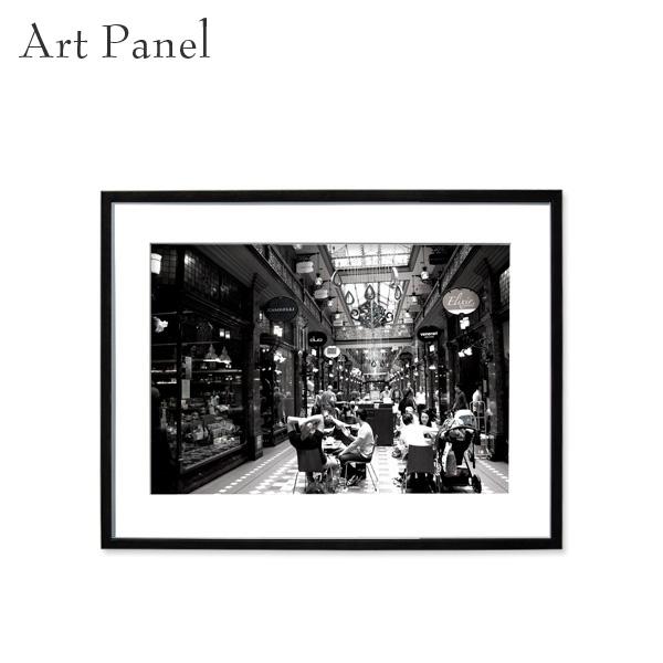 アートパネル モノトーン シドニー 街 壁掛け 白黒 壁面 インテリア モダン アートボード 額付き モノクロ アート写真