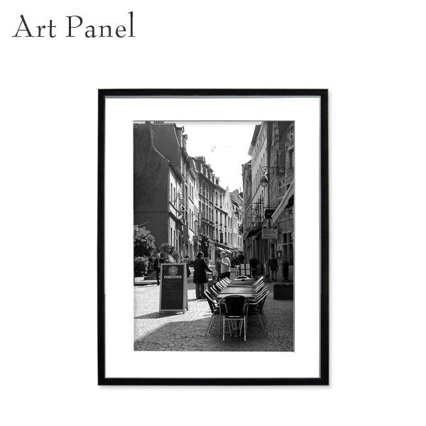 アートパネル モノクロ ブリュッセル ベルギー 額付 パネル 風景 街並み 壁掛け インテリア 絵 フォトポスター 写真