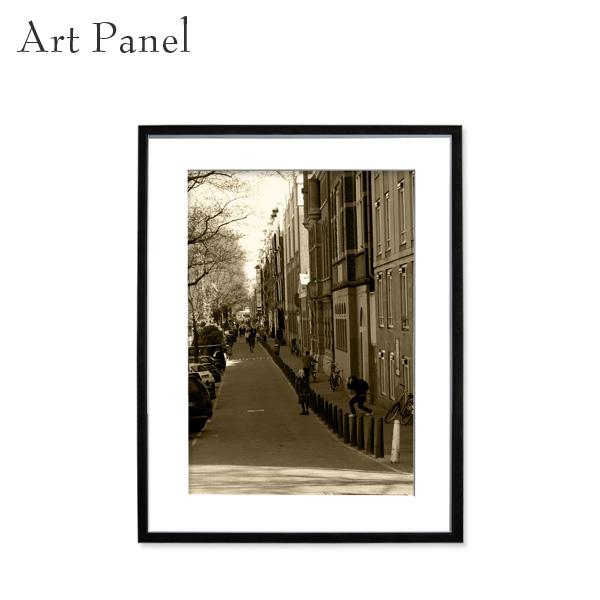 壁掛け アート パネル セピア 海外風景 額付 オランダ 街並み 壁飾り インテリア 絵 アートポスター 写真