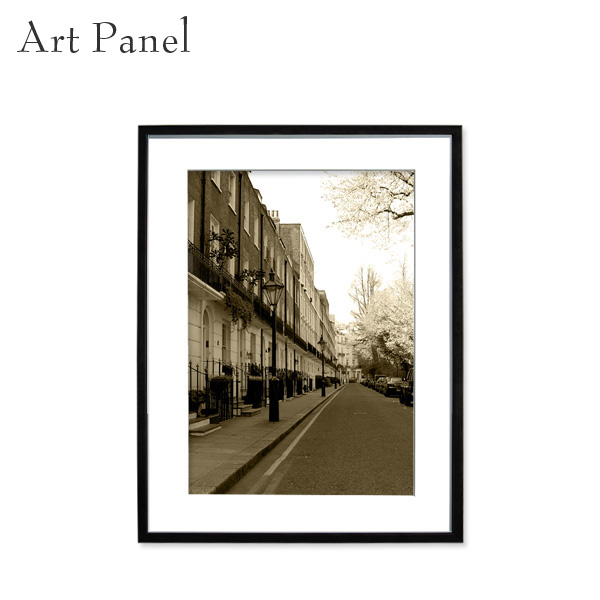 壁掛け アートパネル セピア ロンドン 額付 イギリス 街並み 壁飾り インテリア 絵 アートポスター 写真