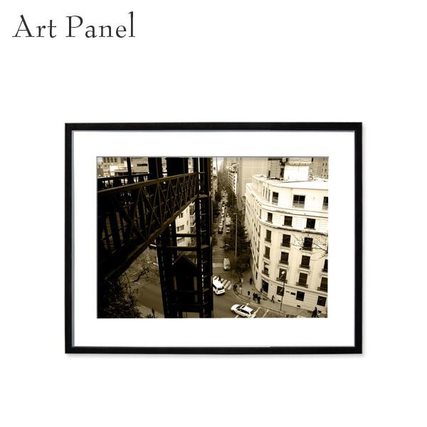 アート 写真 パネル セピア フレーム付 装飾 飾り 壁掛け インテリア 街並み 絵画 アートポスター フォト