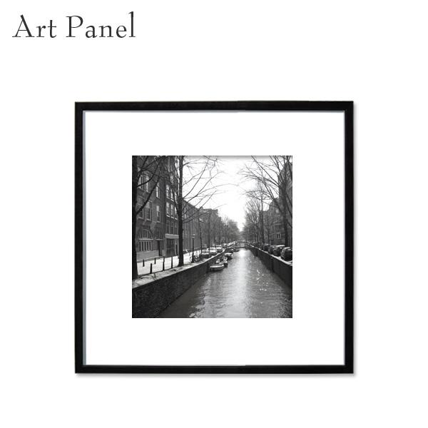 アートパネル 正方形 展示 店舗内装 ディスプレイ 壁面 空間 モノクロ 海外風景 絵画 ポスター 写真 額縁 白黒