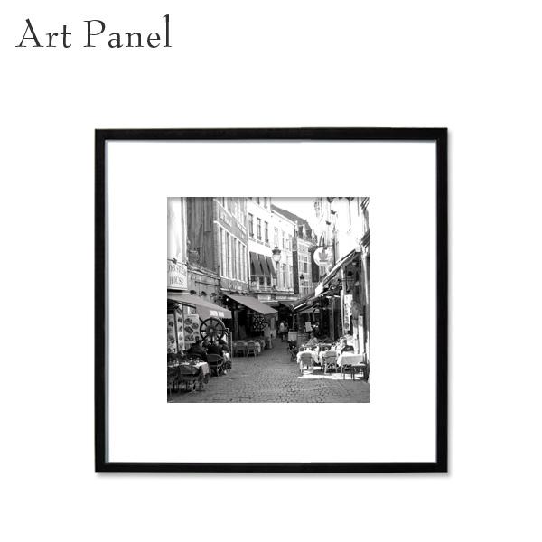 アートパネル モノクロ スクエアパネル 正方形 ベルギー 展示 店舗内装 ディスプレイ 壁面 空間 風景 絵画 ポスター 写真 額縁