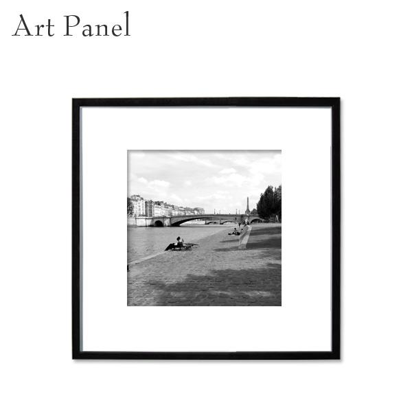 パリ アートパネル モノクロ スクエアパネル 正方形 フランス 展示 店舗内装 ディスプレイ 壁面 空間 街 絵画 ポスター 写真 額縁
