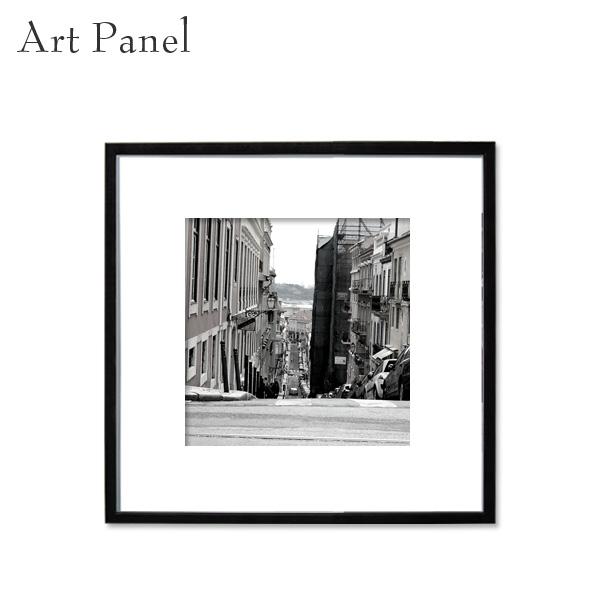 モノクロ スクエアパネル アート ポルトガル 街並み 展示 店舗 内装 ディスプレイ 壁面 空間 絵画 ポスター 写真 額縁