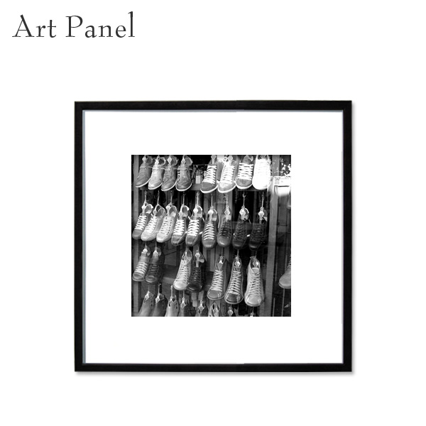 壁掛け アート モノトーン 正方形 パネル 展示 店舗 内装 ディスプレイ 絵画 白黒 ポスター 写真 額付
