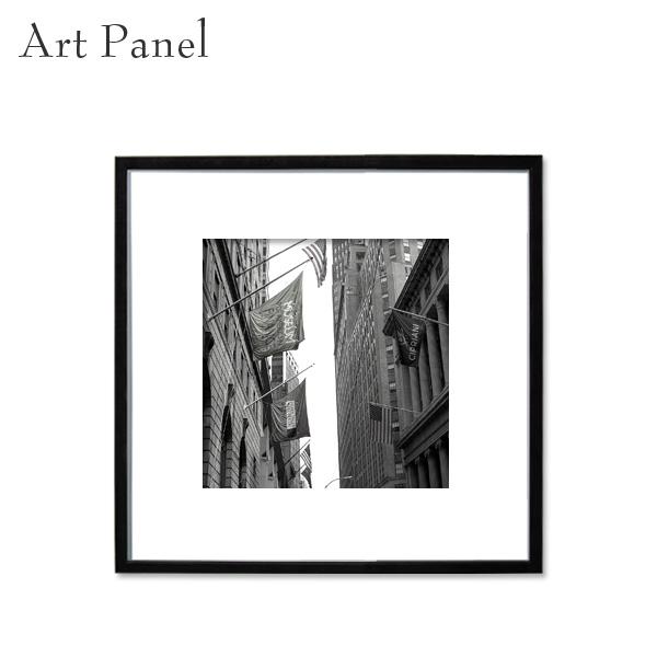 ニューヨーク アート モノトーン 壁飾り 正方形 パネル 展示 店舗 内装 ディスプレイ 絵画 ポスター 写真 額付