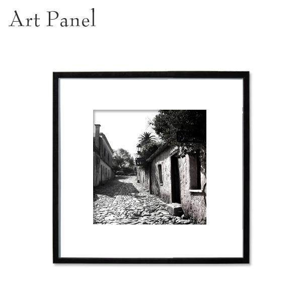アートパネル 前面アクリル 海外風景 モノクロ モノトーン 正方形 街並み モダン 展示 額縁 ポスター 写真