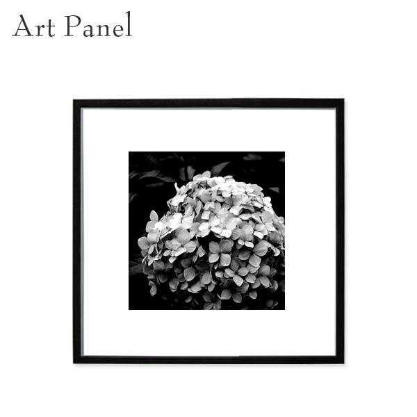 アートパネル モノクロ アジサイ フラワー インテリア アクリル 正方形 壁 モダン 額縁 ポスター 絵 写真