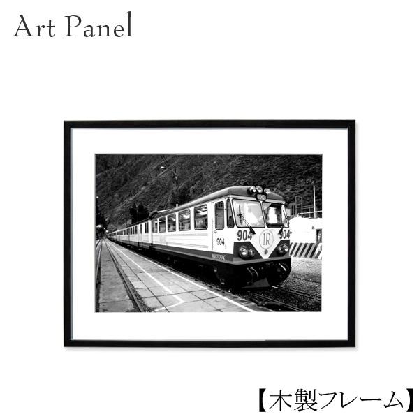 モノクロ インテリア アートパネル 壁飾り 列車 白黒 モノトーン ウォールパネル ウォールデコ 飾り物