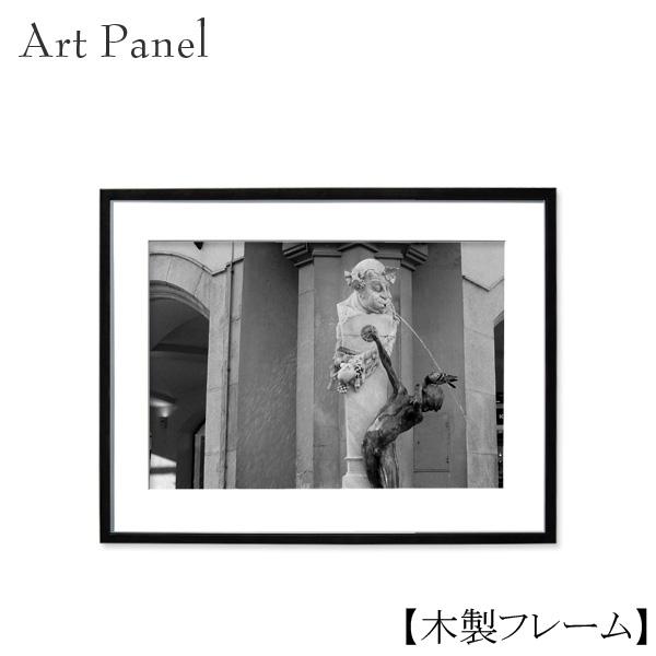 アートパネル モノクロ 壁掛け アート インテリア ミュンヘン 写真 海外風景 壁飾り 額付き おしゃれ 木製 額縁