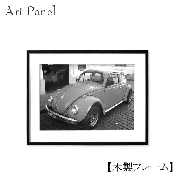 モノクロ アートパネル 壁掛け 写真 おしゃれ インテリア ウォールパネル 車 クラシック レトロ 壁飾り 額付き 木製 額縁