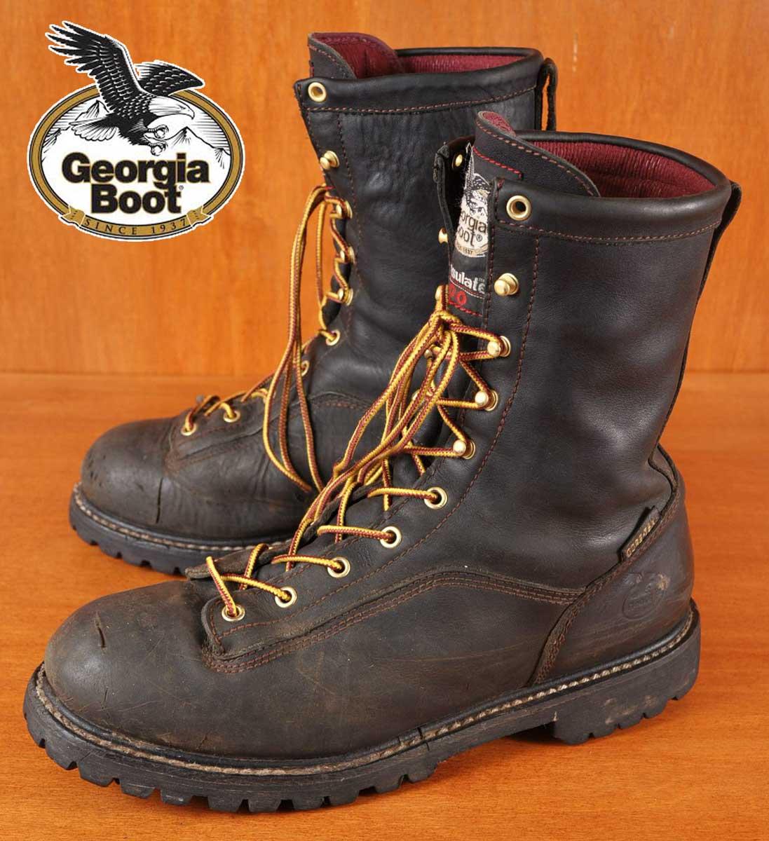 91d6d644c8d Georgia Boot Georgia boots and GORE-TEX Gore-Tex work boots / black leather  / JPN30.0cm: