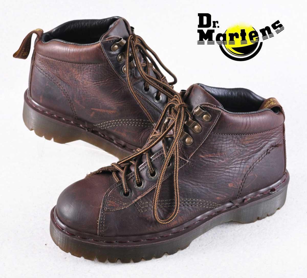 74fcd9e66a17e England vintage   Dr.martens Martens   wedge sole thickness bottom and  monkey boots and dark brown leather   UK6-JPN25.0cm