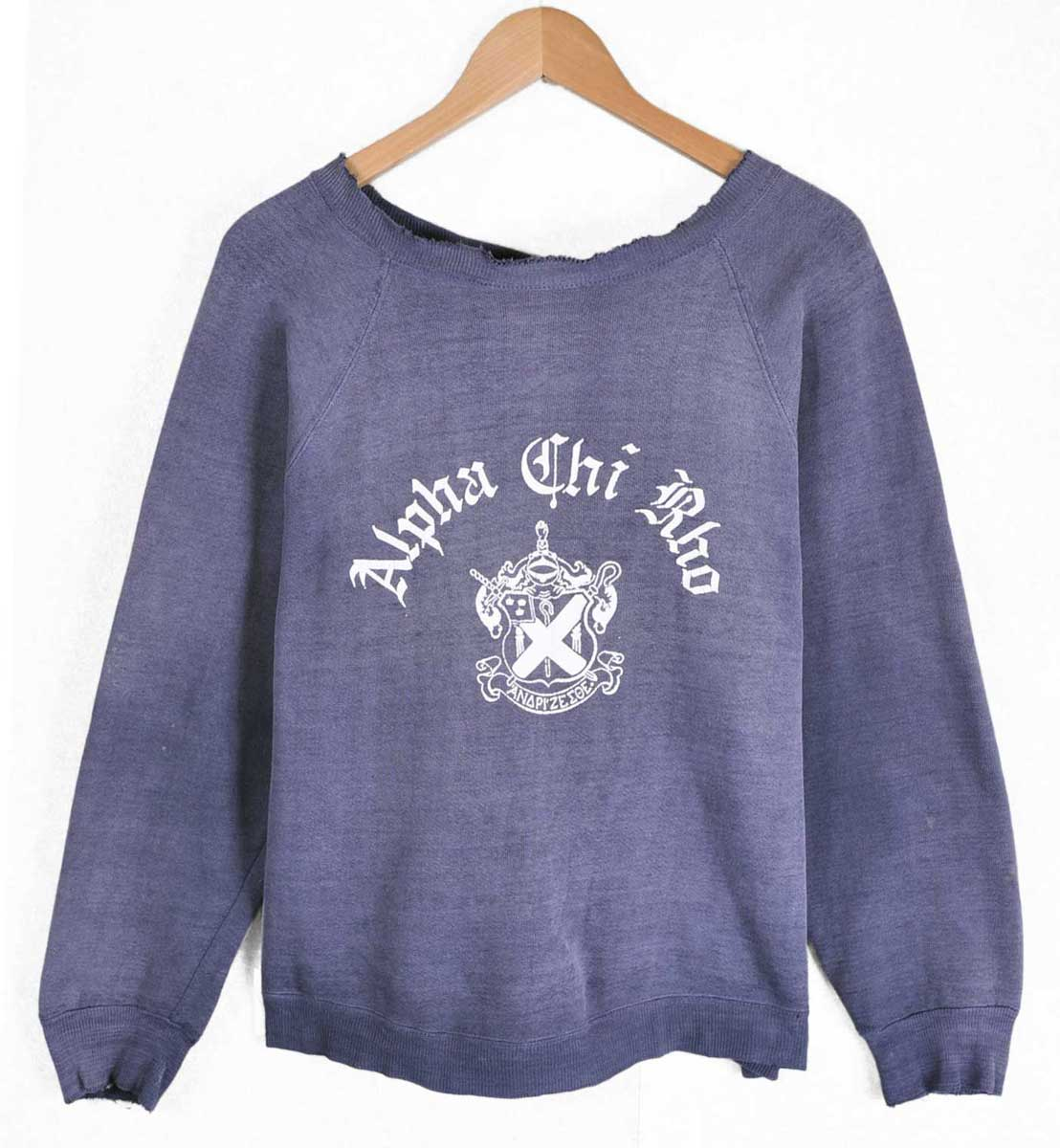 / Vintage 1960 ΑΧΡ alfatilor college system / fraternity sweatshirts and Navy / mens M equivalent