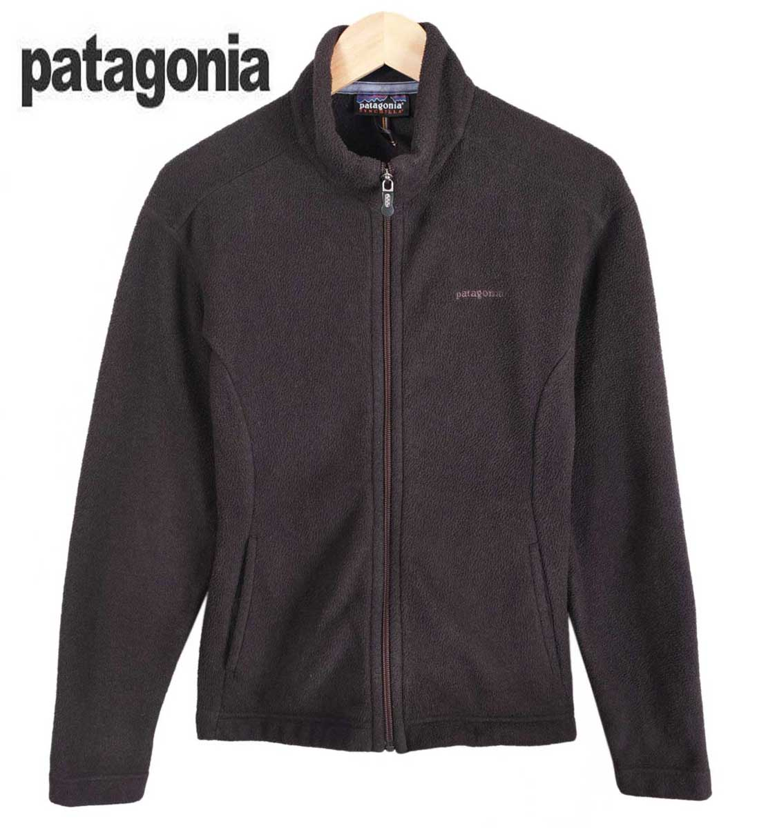 5b75f7c91883 Patagonia Patagonia   thin Chinchilla full zip fleece jacket   dark brown   ladies  M equivalent to 1