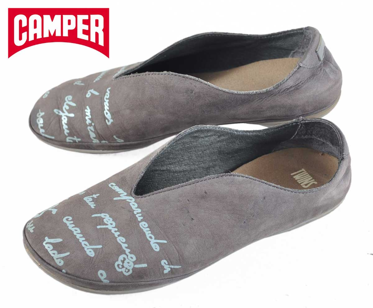 c2ff7578bf21f1 CAMPER camper   TWINS twins and asymmetric   women s pumps flat pumps type    grey nubuck leather   EUR35 JPN22.5cm 1