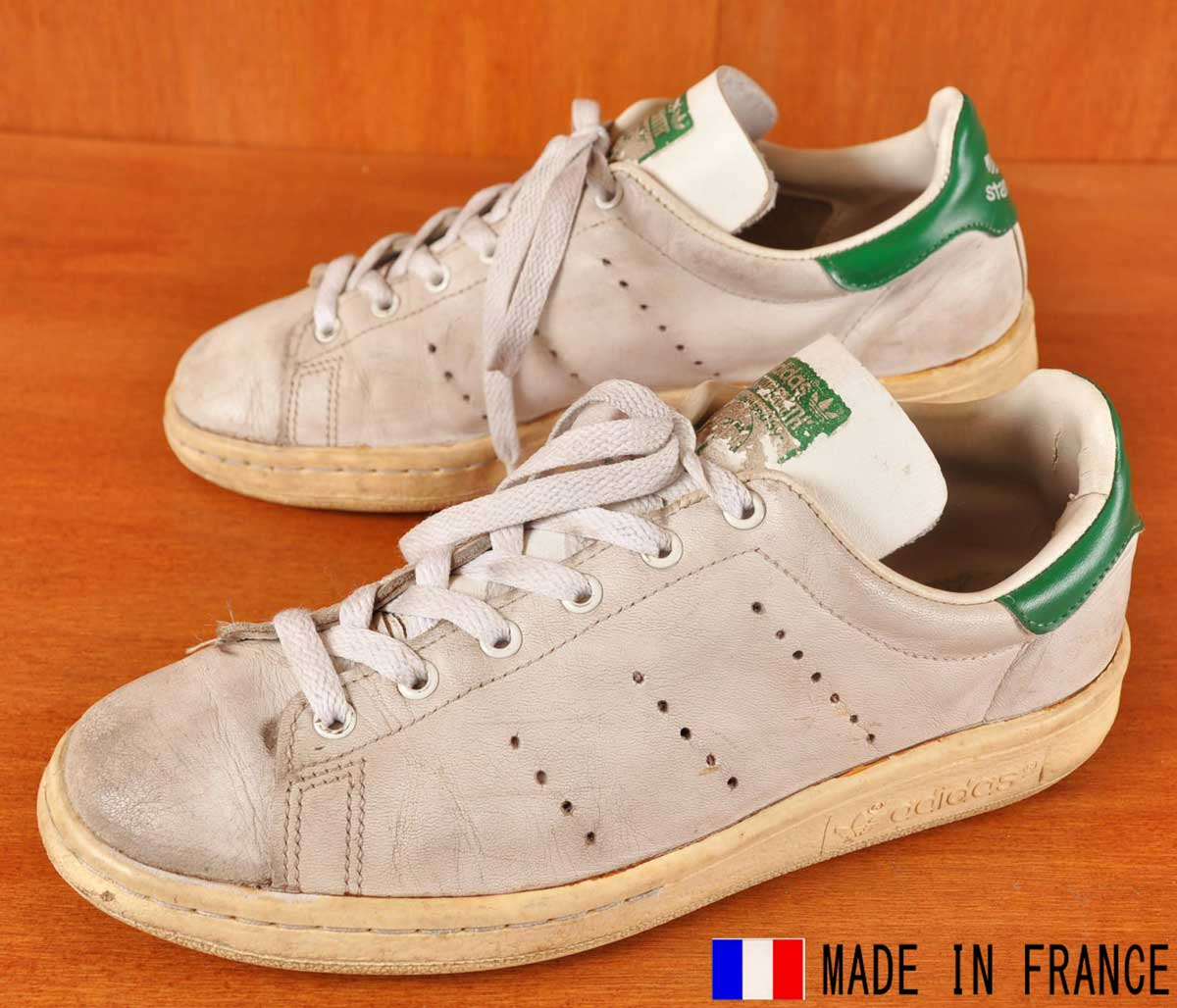 Vintage 1980s France made adidas adidas STAN SMITH Stan Smith locate sneaker White Leather JPN24.5cm: